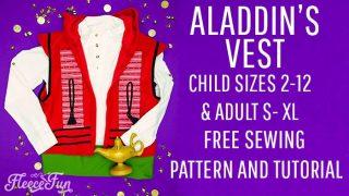 Best Aladdin Costume DIY (Free Vest Pattern)