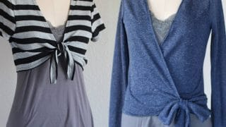 Copeland Cardi - Tie Front Cardigan and Ballet Wrap Sweater Top for Women