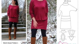 JoJo Top Tunic Dress Sewing Pattern (PDF)