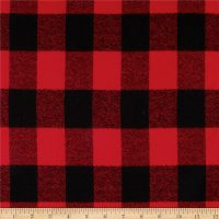 Kaufman Mammoth Flannel Buffalo Plaid Red