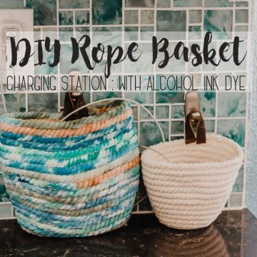 How to sew a rope basket