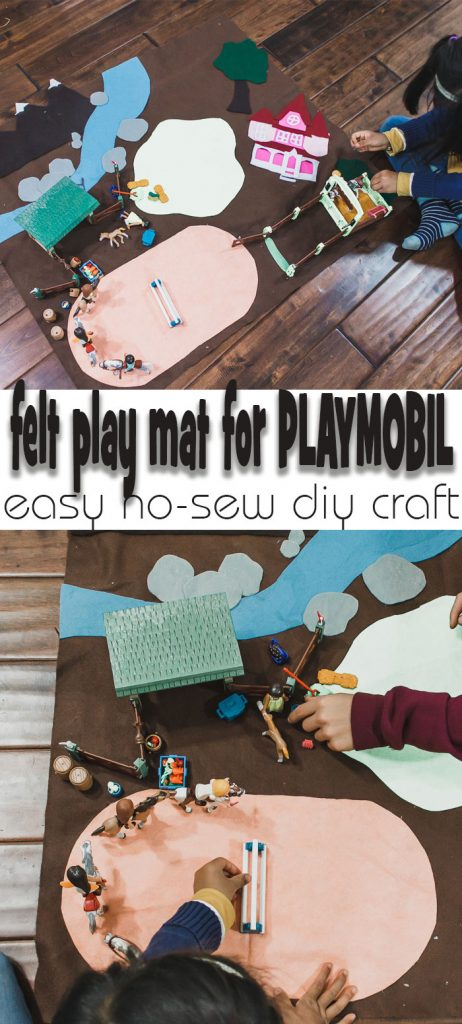 felt play mat for PLAYMOBIL and other toys easy felt diy craft for kids from Life Sew Savory