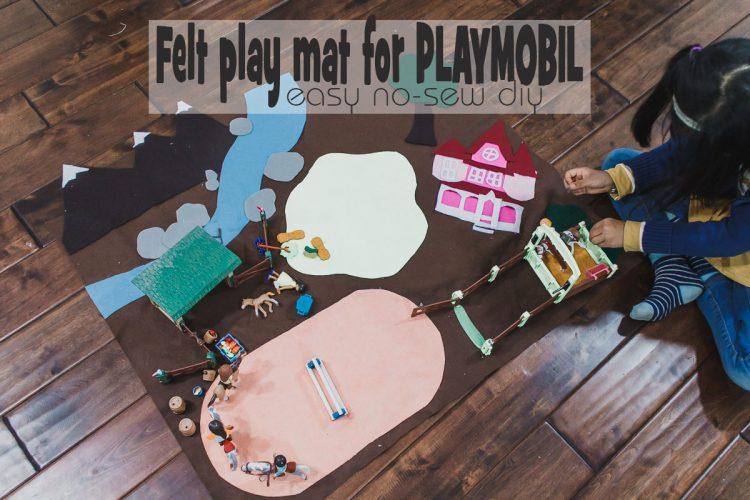 How to make an easy felt play mat for kids
