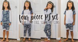 four piece pj set sewing pattern coordinating pajama pattern from Life Sew Savory