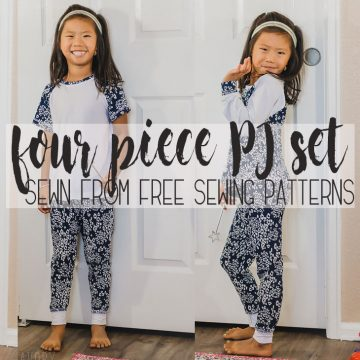 four piece pj set sewing pattern coordinating pajama pattern from Life Sew Savory