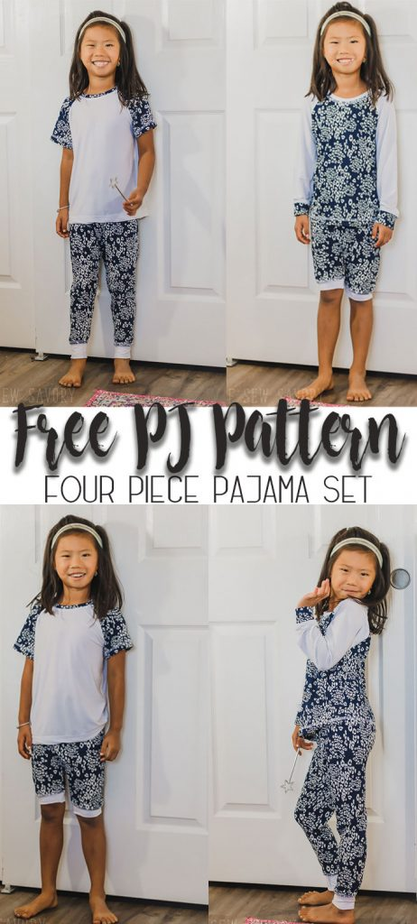 Free Kids Pajama Pattern - Coordinating set pajama patterns free from Life Sew Savory
