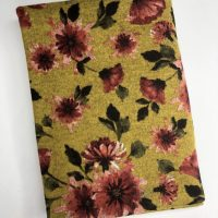 Mustard floral hacci knit
