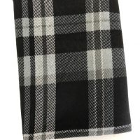Plaid hacci knit