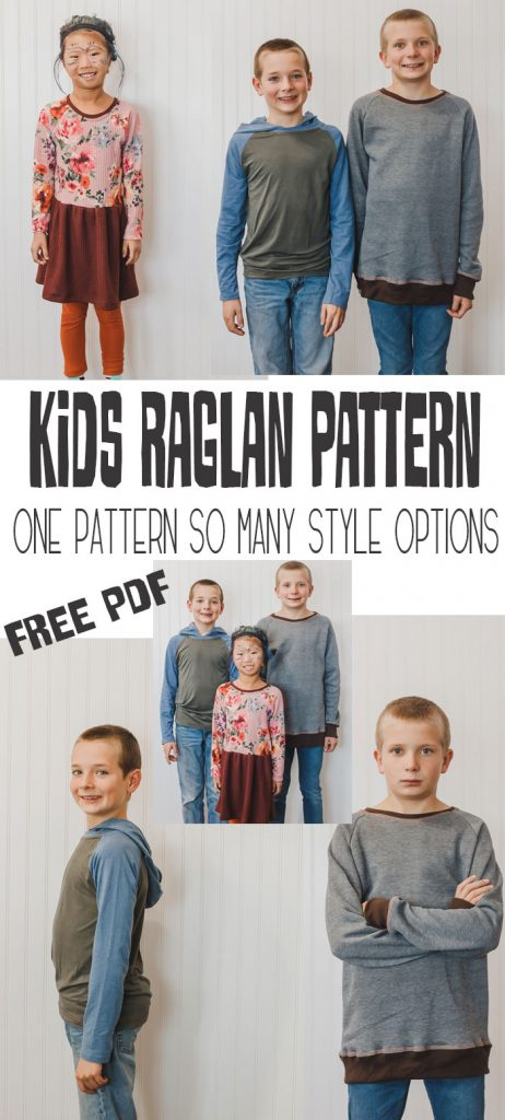 Kids Raglan Free Shirt pattern free pdf with sizes 18M - 14Y and tons of style options from Life Sew Savory