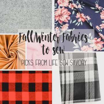 winter and fall fabric to sew for the cooler season. My fall fabric picks and favorites