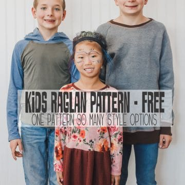 kids raglan - one pattern many styles