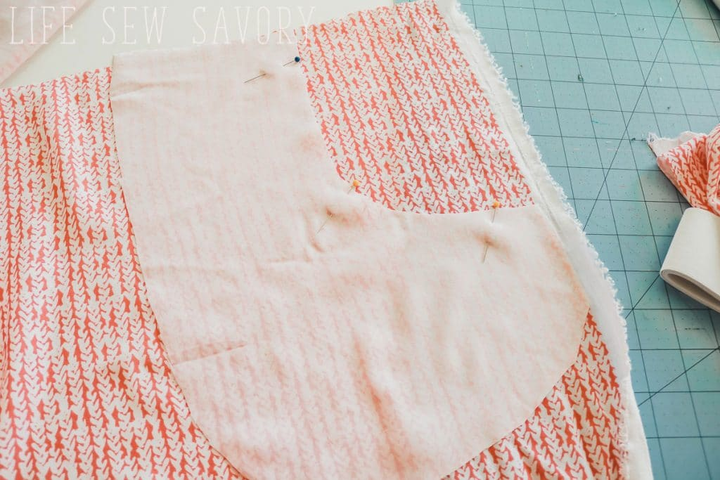 sewing a skirt with pockets