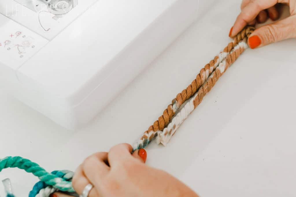 sew a rope basket