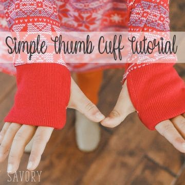 thumb-hole cuff sewing tutorial