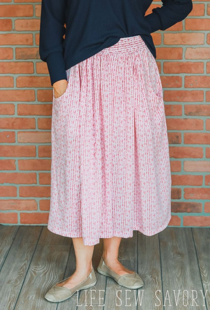 how to make a skirt with pockets sewing tutorial and pocket pattern