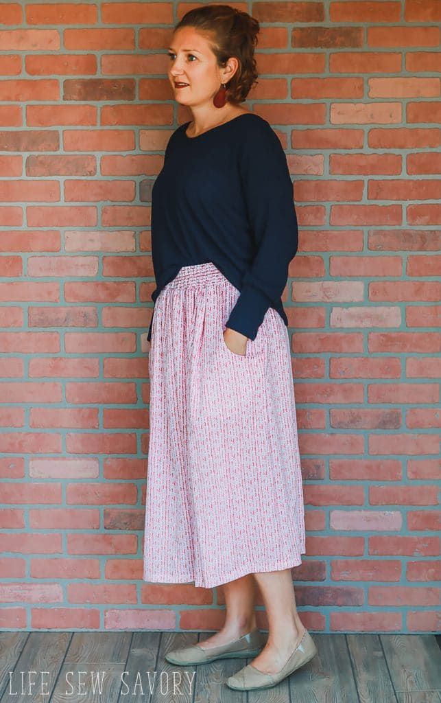 simple skirt patterns with pockets