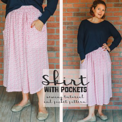 How to sew a skirt – with pockets