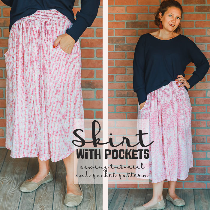 How to sew a skirt - with pockets from Life Sew Savory