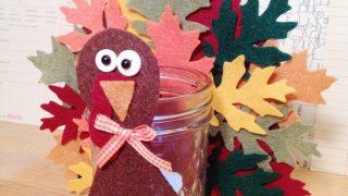 DIY Felt Turkey Votive a Thanksgiving Kids Craft