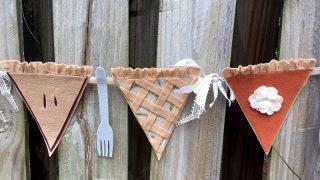 DIY Thanksgiving Pie Banner with Kunin Felt