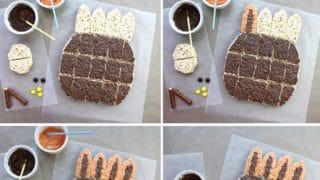 Fun Thanksgiving Turkey Rice Krispies Treats Pull-A-Part Cake