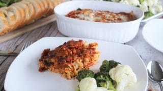 Roasted Broccoli and Cauliflower with Parmesan