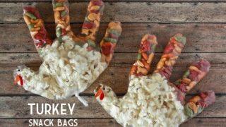 Thanksgiving Turkey Snack Bags