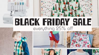 November Sale everything 25% off through Dec 1st. Holiday sewing shopping