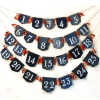 How to make an advent calendar out of old jeans · vicky myers creations