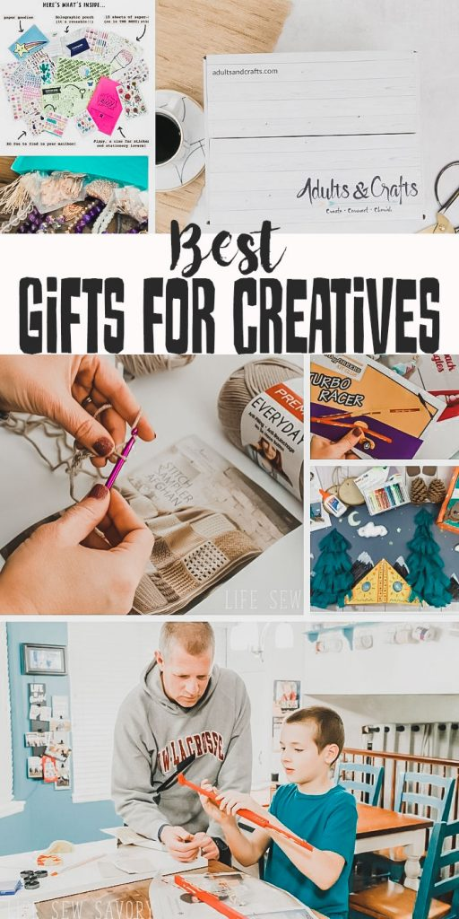 best gifts for creative people list of subscription boxes for people who like to create from Life Sew Savory