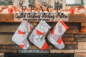 quilted christmas stocking free sewing pattern