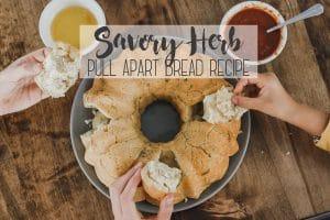 Savory pull apart bread recipe