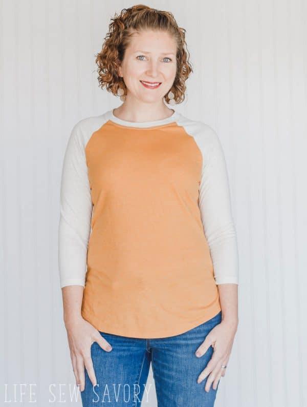 Womens Raglan shirt free sewing pattern