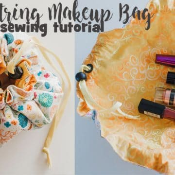 drawstring makeup bag sewing tutorial