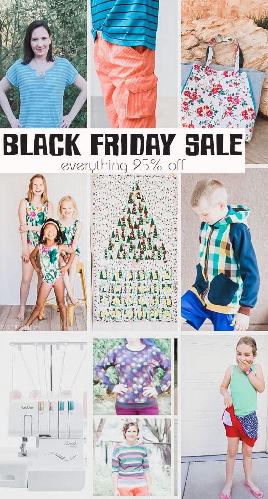 Black Friday Holiday Sale Sewing patterns and sewing classes on sale through Dec 1st from Life Sew Savory