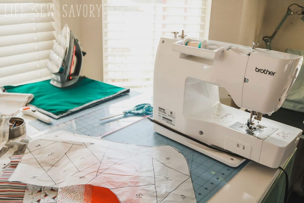 paper piecing sewing station