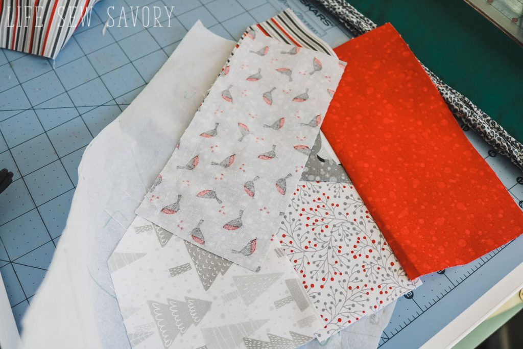 paper piecing christmas stocking free sewing pattern