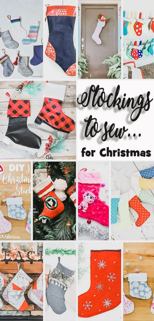 stockings to sew patterns and tutorials for Christmas stockings from Life Sew Savory
