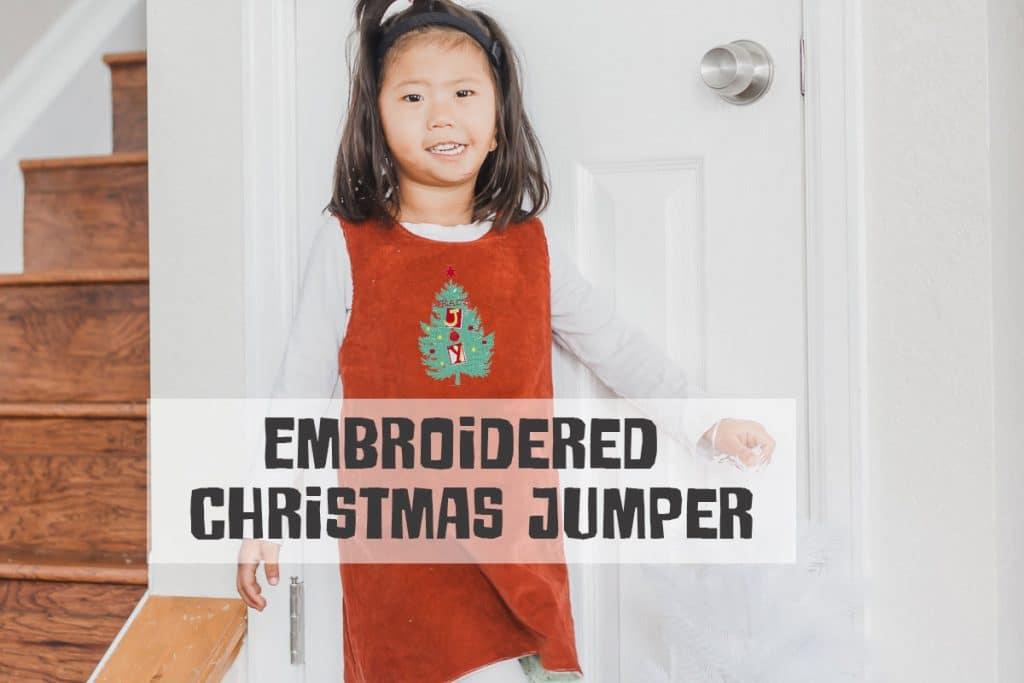 free Christmas pinafore jumper dress