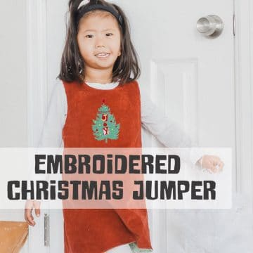 free Christmas pinafore jumper dress