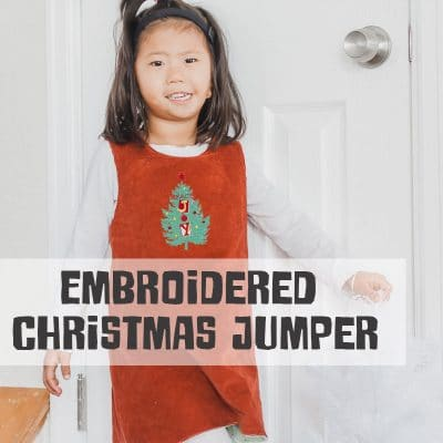 Embroidered Christmas Jumper