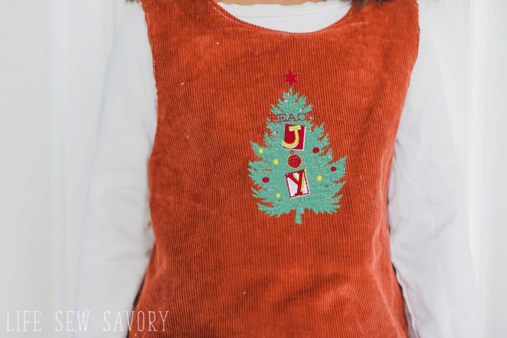Embroidered Christmas dress