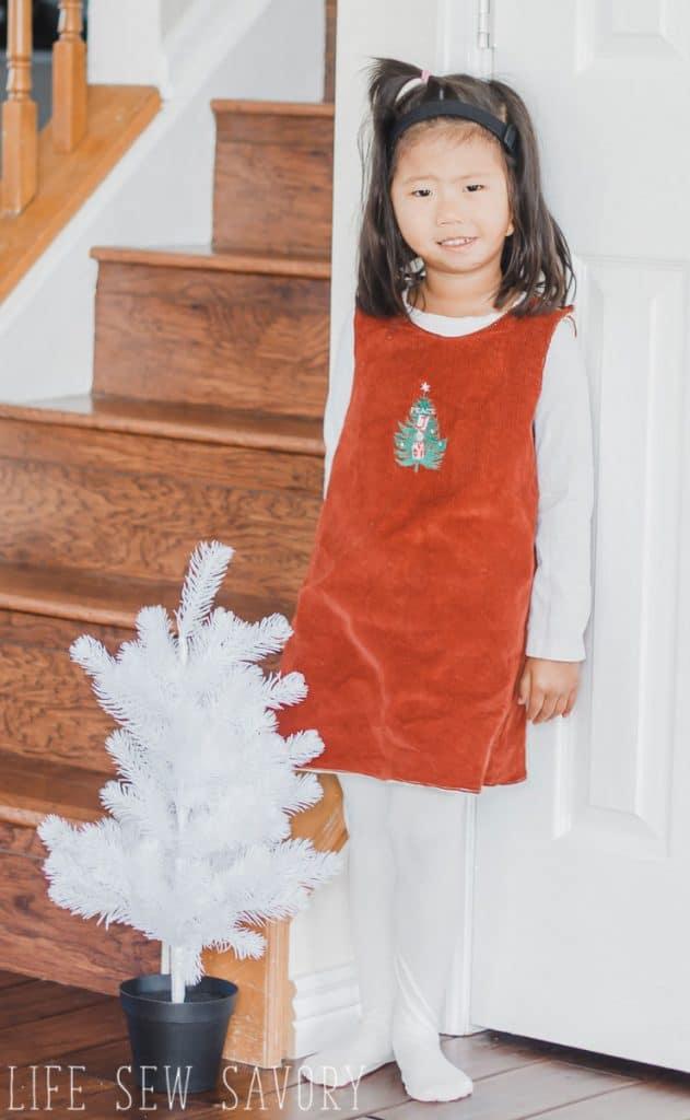 free Christmas dress tutorial