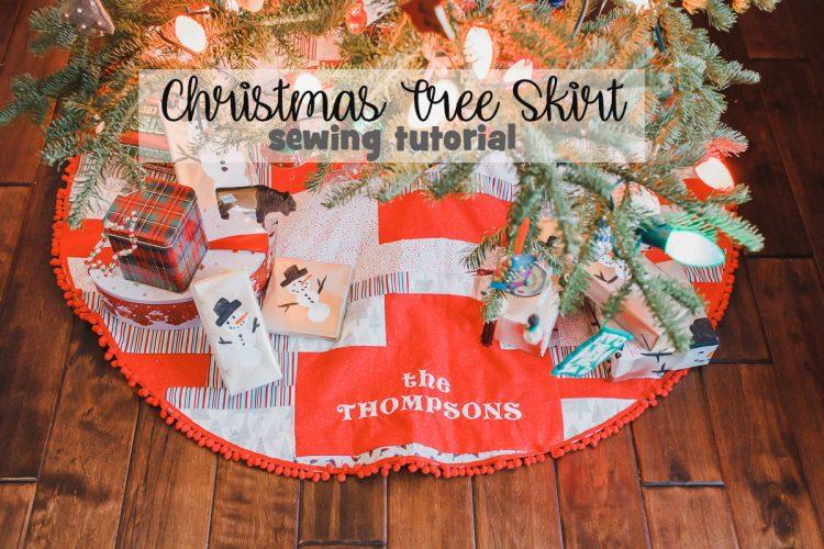 Embroidered Christmas Tree Skirt