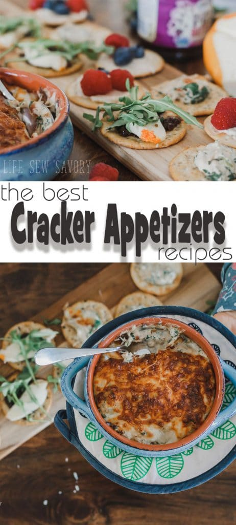 cracker toppings appetizers the best cracker appetizers for holiday entertaining from Life Sew Savory