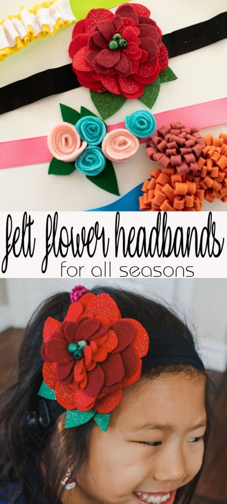 felt flower headband tutorial Giant felt flower hair clips easy DIY with felt from Life Sew Savory