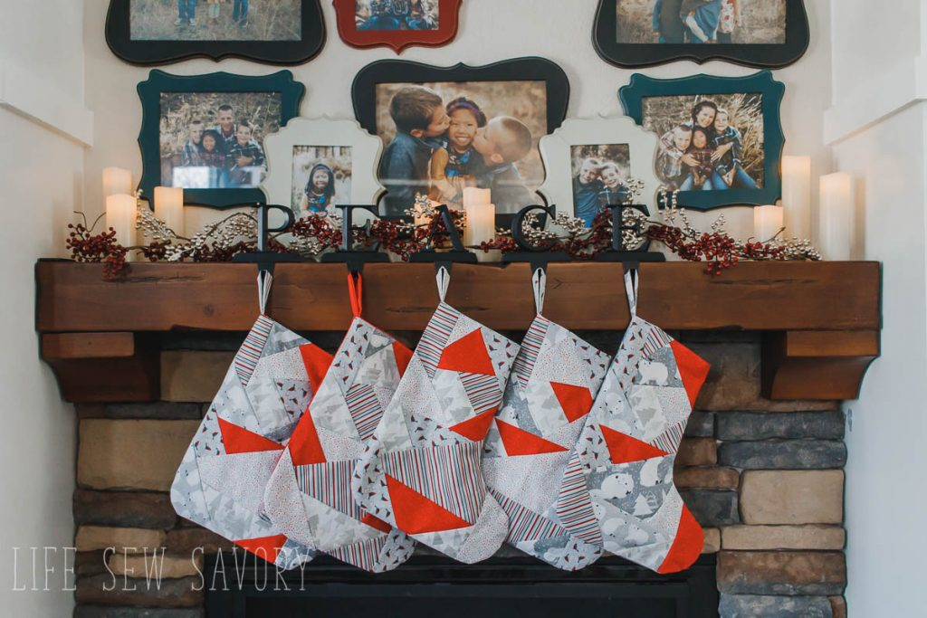 homemade stockings hanging by the fire