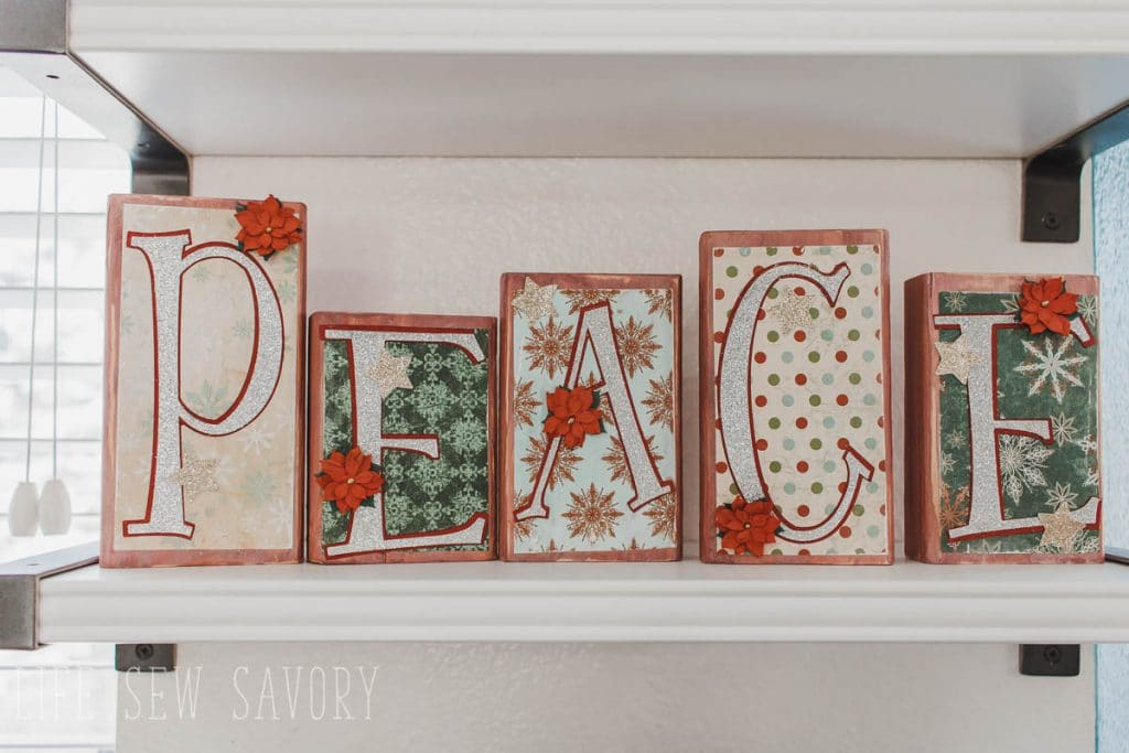 PEACE wood blocks DIY home decor