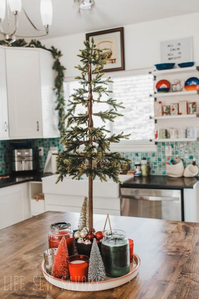 Kitchen Island christmas decor