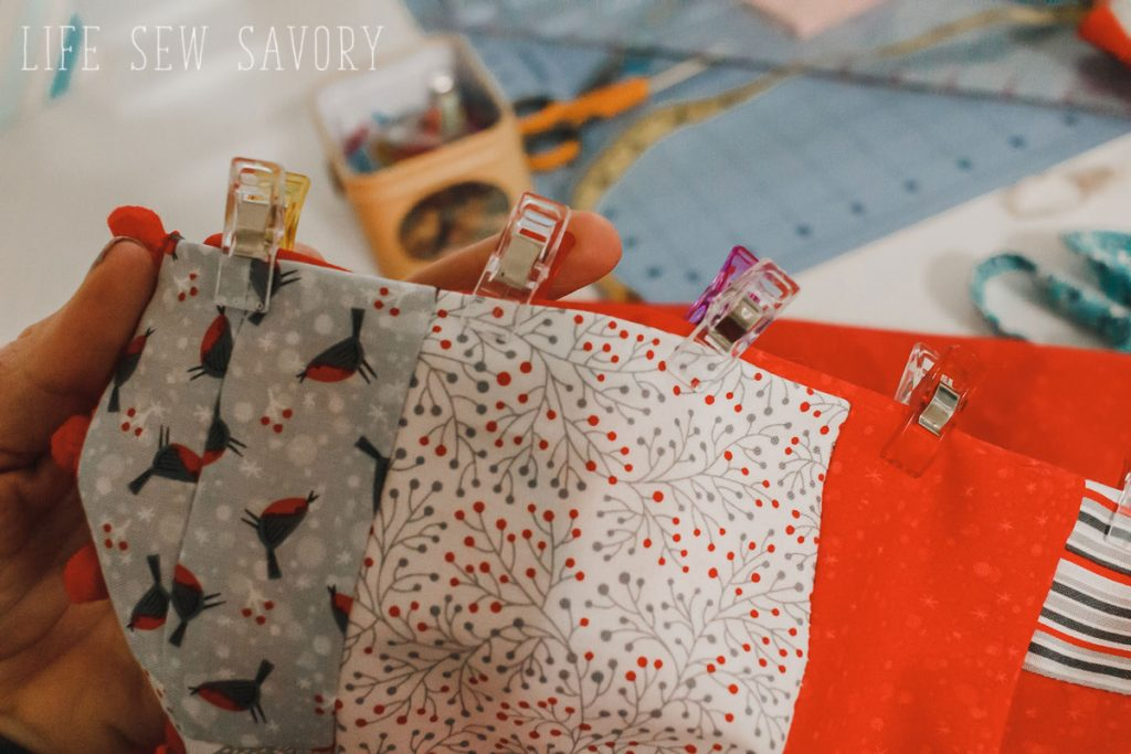 tree skirt sewing tutorial for Christmas